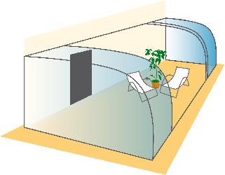 La formes des abris terrasse et v randas coulissantes - Veranda arrondie ...