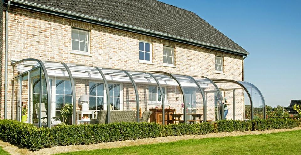 salor v randa saphir aluminium l abris terrasse arrondis l t lescopique prix. Black Bedroom Furniture Sets. Home Design Ideas