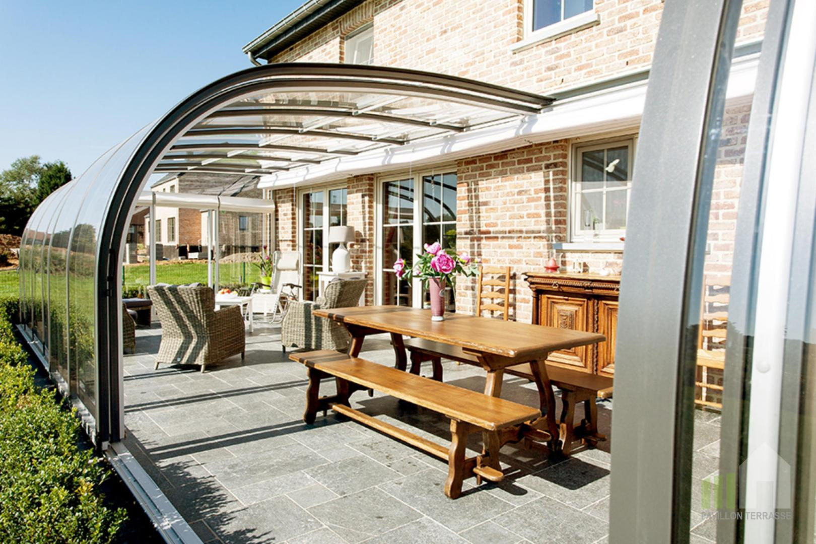 Abris terrasse pavillon i solar v randa coulissante mobile for Couvre plancher pour patio exterieur
