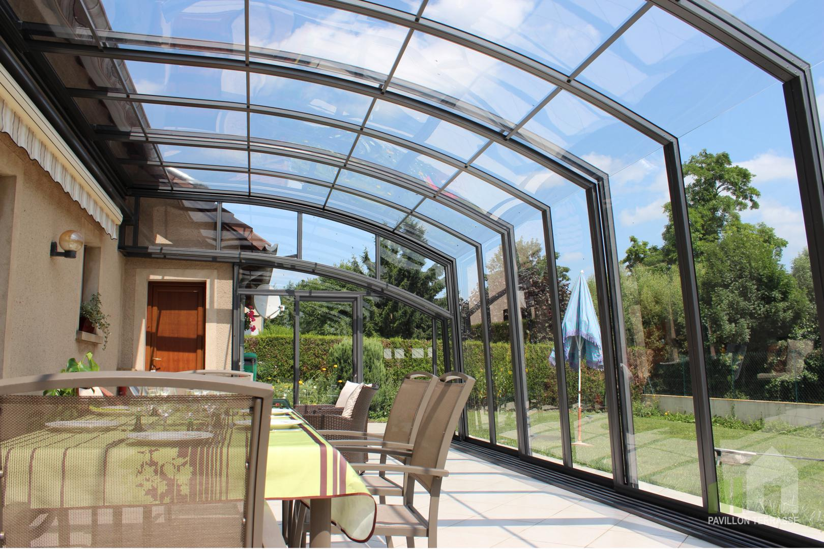Abris terrasse pavillon i solar v randa coulissante mobile r tractable escamotable - Abri de terrasse retractable ...